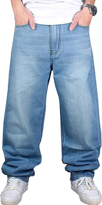 Pantalones De Mezclilla De Los Hombres De La Moda Floja Hippie ...