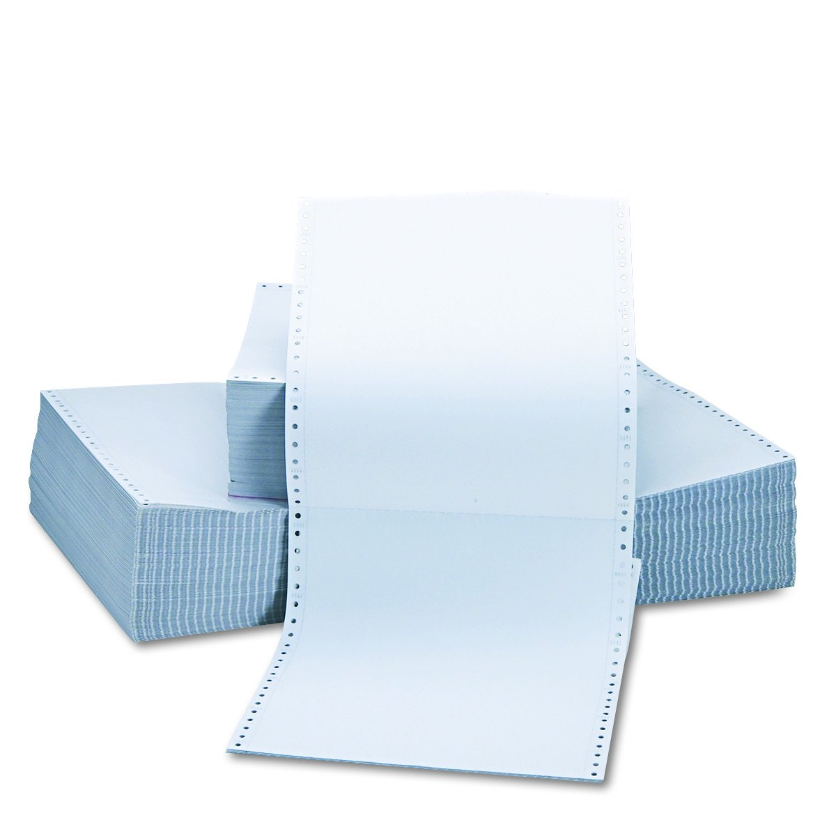 Universal Two-Part Carbonless Paper, 15lb, 9-1/2'' x 11'' , Perforated, White, 1650 Sheets (15703)