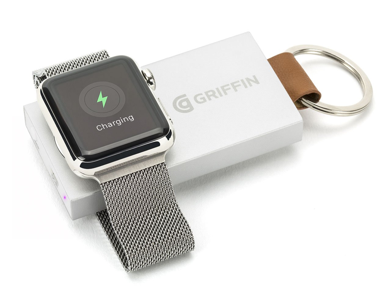Griffin Travel Power Bank Backup Battery for Apple Watch - Ultra-Portable Recharging Key Chain for Apple Watch