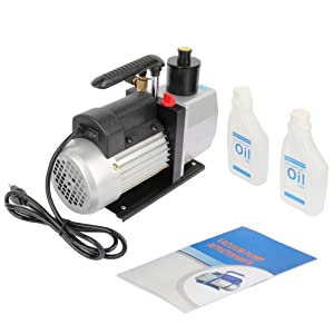 7 CFM Rotary Vane Economy Vacuum Pump 1/2HP A/C Vacuum Pump Air Operated Vacuum Pump Air Conditioning System Tool Auto for Air Conditioner Refrigerant