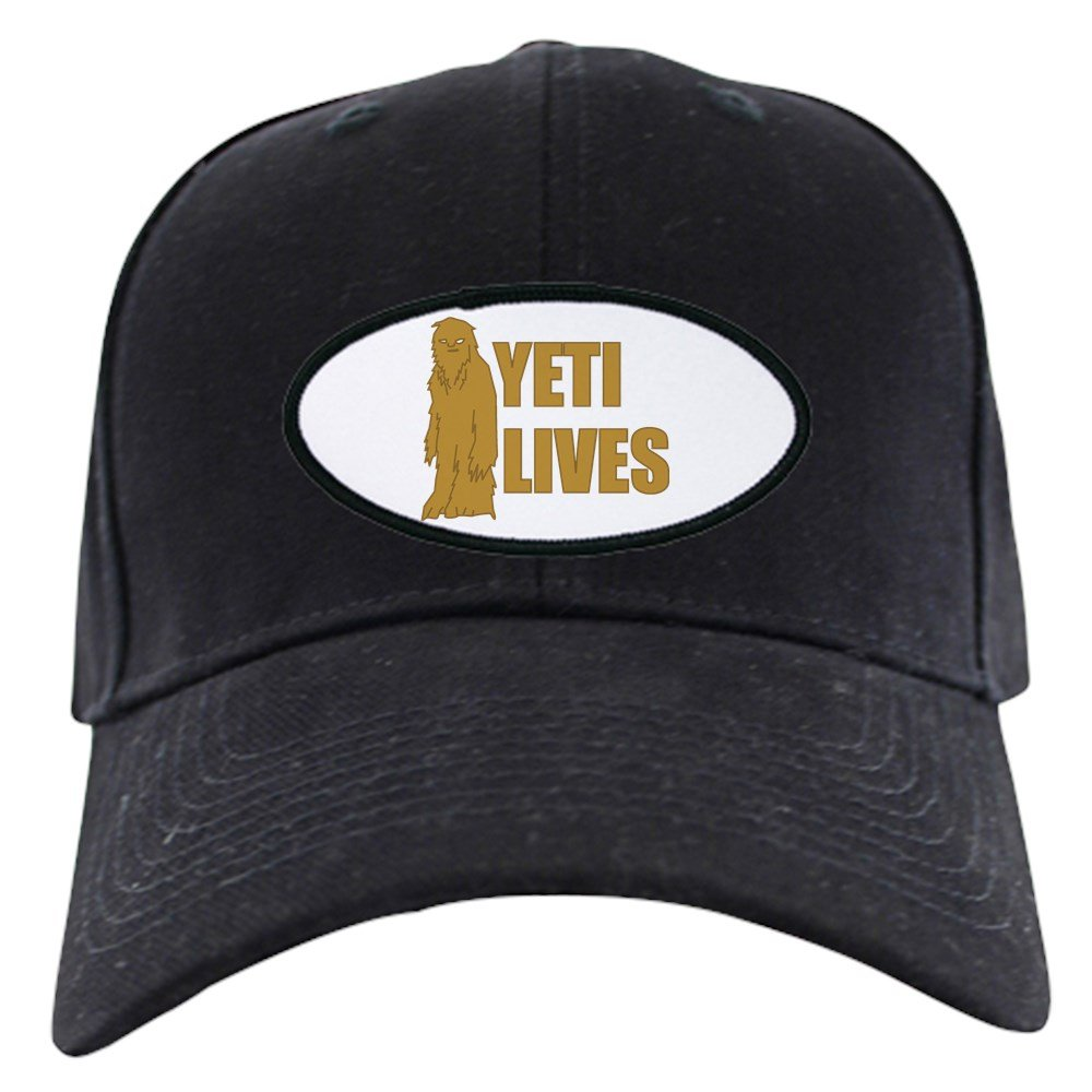 df72f8e349b Amazon.com  CafePress - Yeti Lives Black Cap - Baseball Hat