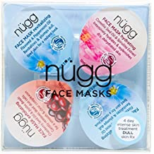 nügg 4 Day Radiance Boost: Multi-Masking Face Mask Set to Boost Radiance and Get Rid of Dullness in just 4 Days; for Normal, Dull, Tired Skin; Pack of 4 Single Serve Masks (4 x 0.33 US fl.oz.)