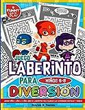 Juego Laberinto Para Niños 6-8 Diversión: Juegos Niños 4 años a 8 años Libro de Laberintos para Mejorar Las Capacidades Mentales y Hábiles
