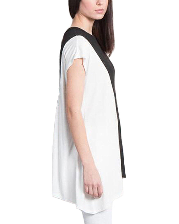 Auxo Camisas Mujer Blusas Algodón de Moda 2017 Negro y Blanco ES 42-44/ASIAN XL: Amazon.es: Ropa y accesorios