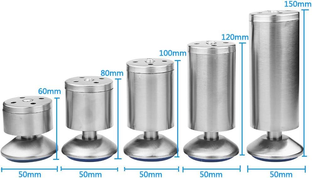 Height Adjustable Stainless Steel Cabinet Legs Kitchen Feet Worktop//Unit//Breakfast Bar//Desk Sofa Table Legs Furniture Legs Pack of 4 50 * 80MM