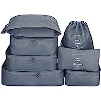 7Pcs SET Travel Luggage Organizer Packing Cubes Set Storage Bag Waterproof Laundry Bag Traveling Accessories