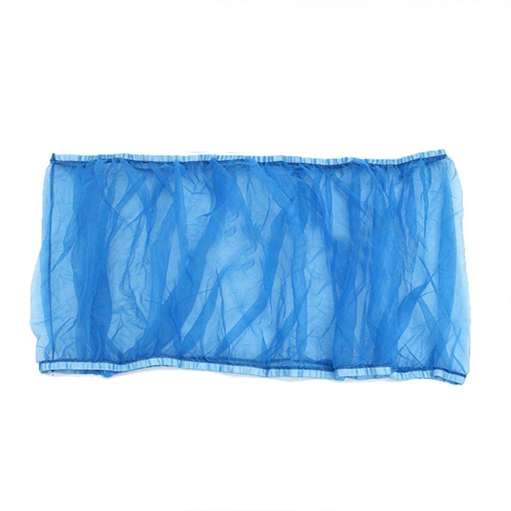 NICERIO Vogelkäfig Abdeckung Netz-Vogel-Samen-Fänger-Netz-Abdeckung Mesh Seed Catcher für Vogelfutter Kleintiere (Blau)