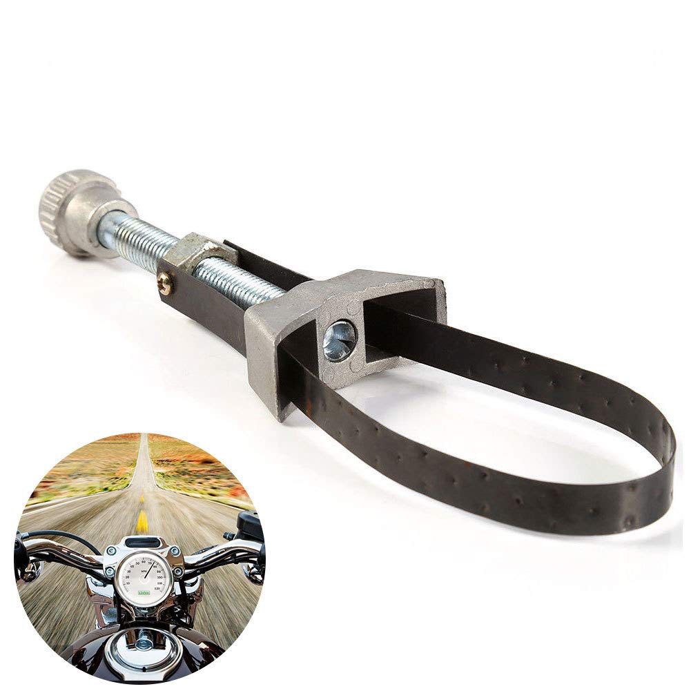 Removal Tool Auto Wrench Spanner Strap Oil Filter Motorcycle Car Adjustable