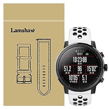 Ceston Deporte Silicona Clásico Correas Para Smartwatch Xiaomi Huami Amazfit Stratos (Blanco + Negro)