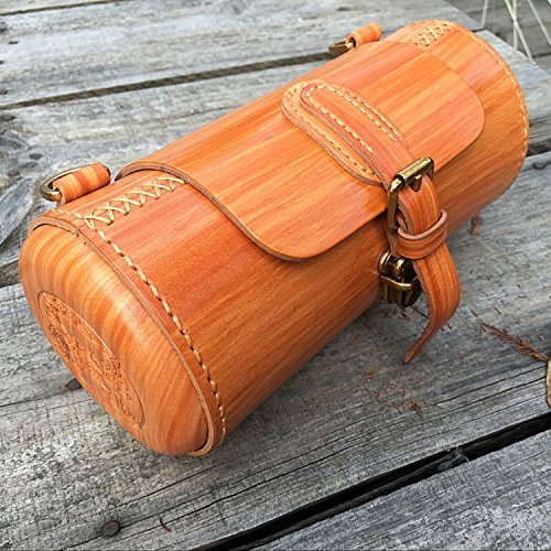 Tourbon Genuine Leather Shoulder Bag Bicycle Handlebar Bag Bike Saddle Bag by TOURBON