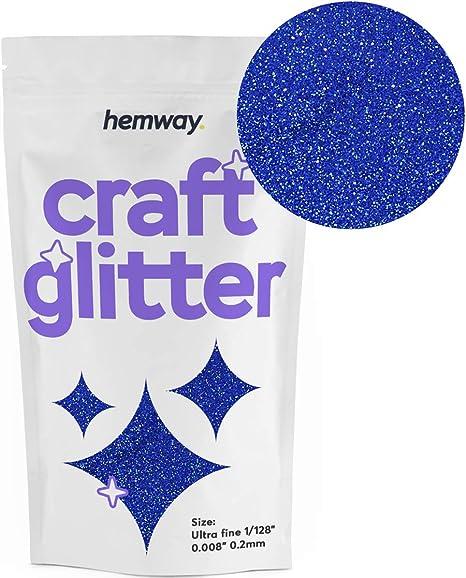 "Extra Fine Glitter Sapphire Blue 1//128/"" .008/"" 0.2mm Hemway Ultra Fine"