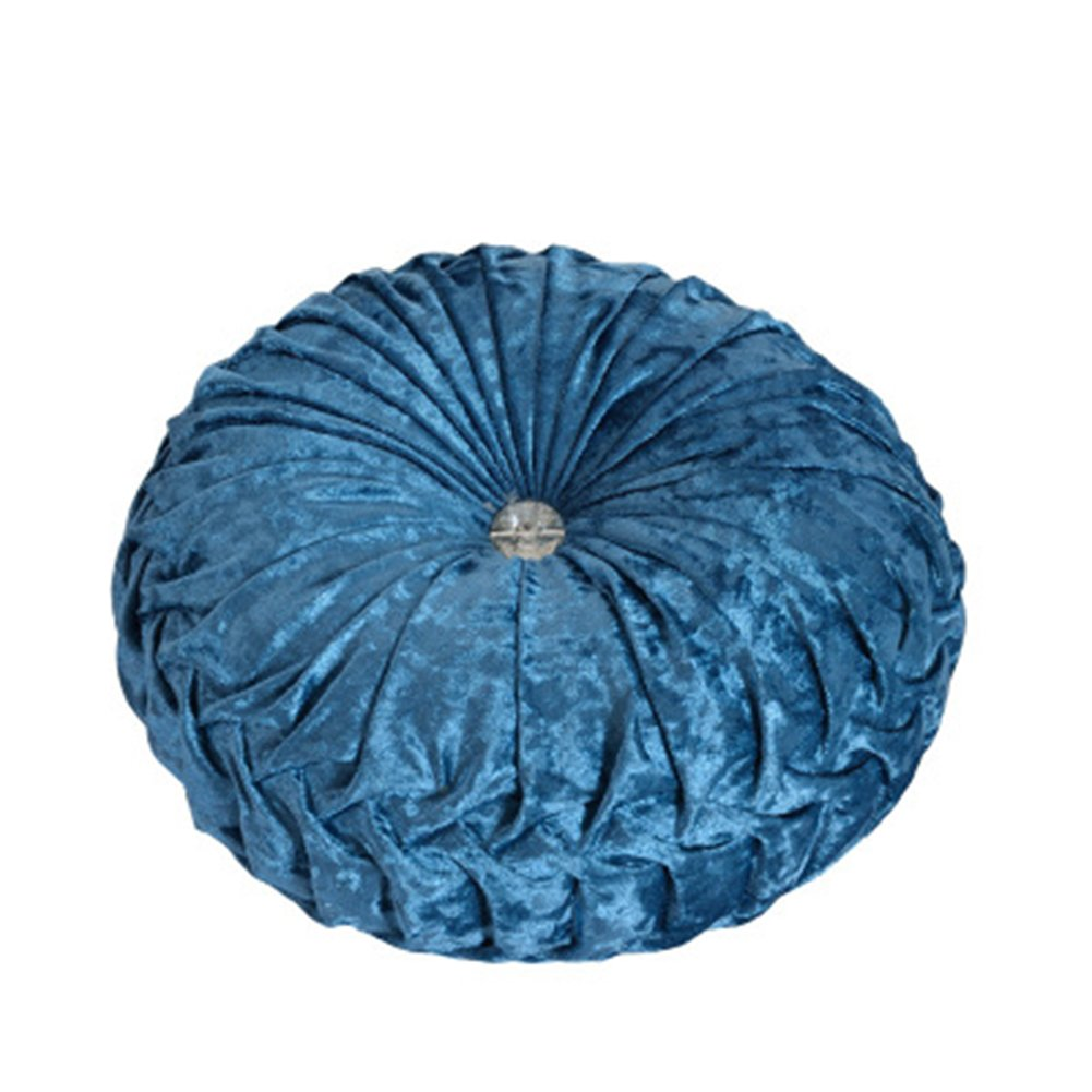 TMJJ Round Solid Color Velvet Chair Cushion Couch Pumpkin Throw Pillow Home Decorative Floor Pillow