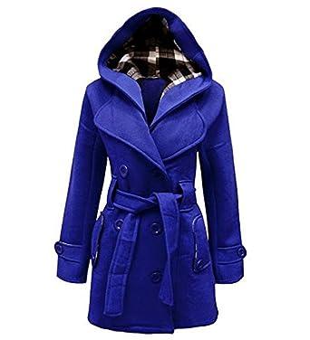 Manteau femme couleur bleu roi