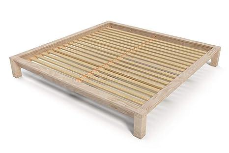 Letti In Legno Grezzo : Abc meubles letto matrimoniale king size cm legno