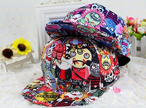 "[Monster] Cool Fashion Adjustable Boys/Girls/Unisex Flat Cap Hat,21""-24''"