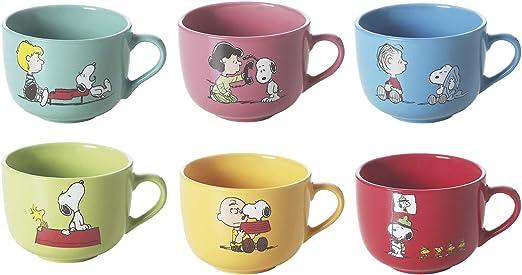Brunch Time Taza De Desayuno 6 Piezas Jumbo Snoopy: Amazon.es: Hogar