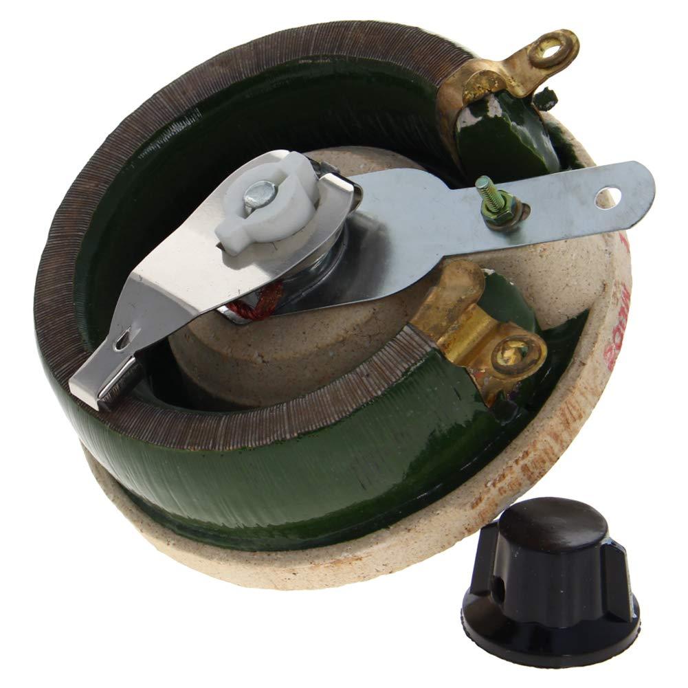 Fielect Ceramic Wirewound Potentiometer Linear Rotary Resistor Rheostat with Knob 1Pcs 200W 5R