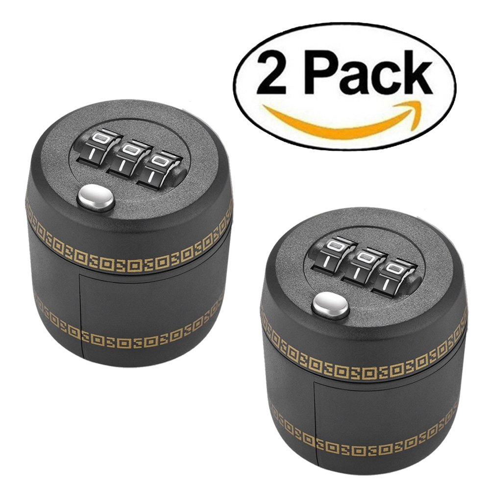 HonDo Wine Liquor Bottle Lock Combination Lock,2 Pack Wine Whiskey Topper Lock for Locking Wine Stopper Leak to Keeps Hooch out of the Wrong Hands and Keeps Wine Fresh Best for Wine Lover