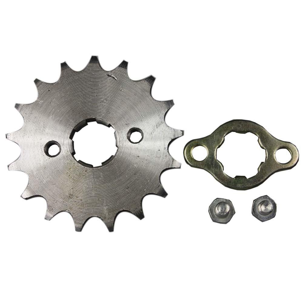 /17T 20/mm 428/tama/ño 17/dientes Alas Motocicleta ATV Dirtbike Crossbike frontal pi/ñ/ón 428/