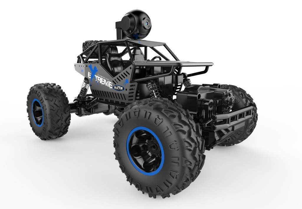 1/16 RC Rock Crawler with WiFi Camera 2.4Ghz 4WD Off Road RC Racing Car High Speed Remote Control Rock Crawlers for Adults Buggy Toy Cars by DaoAG (Image #4)