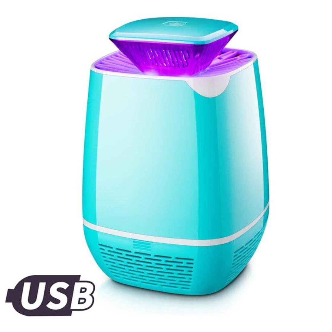Electric Mosquito Repeller LED Light Trap Lamp Pest Control Fly Bug Insect Killer for Home Restaurant Hotel Gessppo - Sky Blue