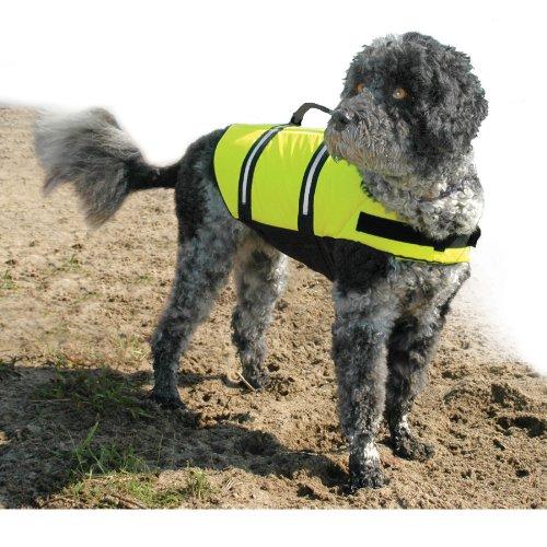 Paws Aboard Designer Doggy Life Jacket, Neon Yellow, Medium