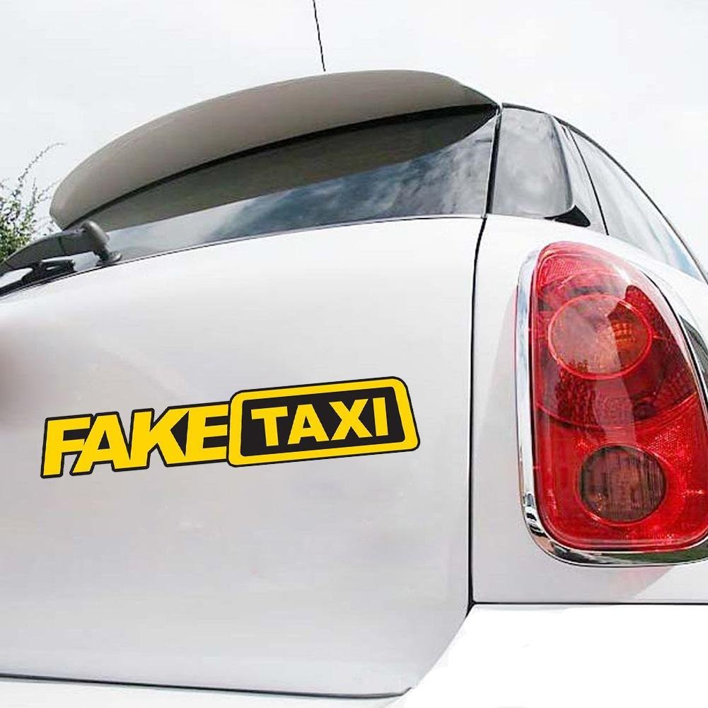1x Fake Taxi Sticker Vinyl Decal Car Turbo JDM Window Drift Funny Tuning