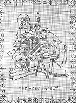 The Holy Family Filet Crochet Panel Pattern - Kindle