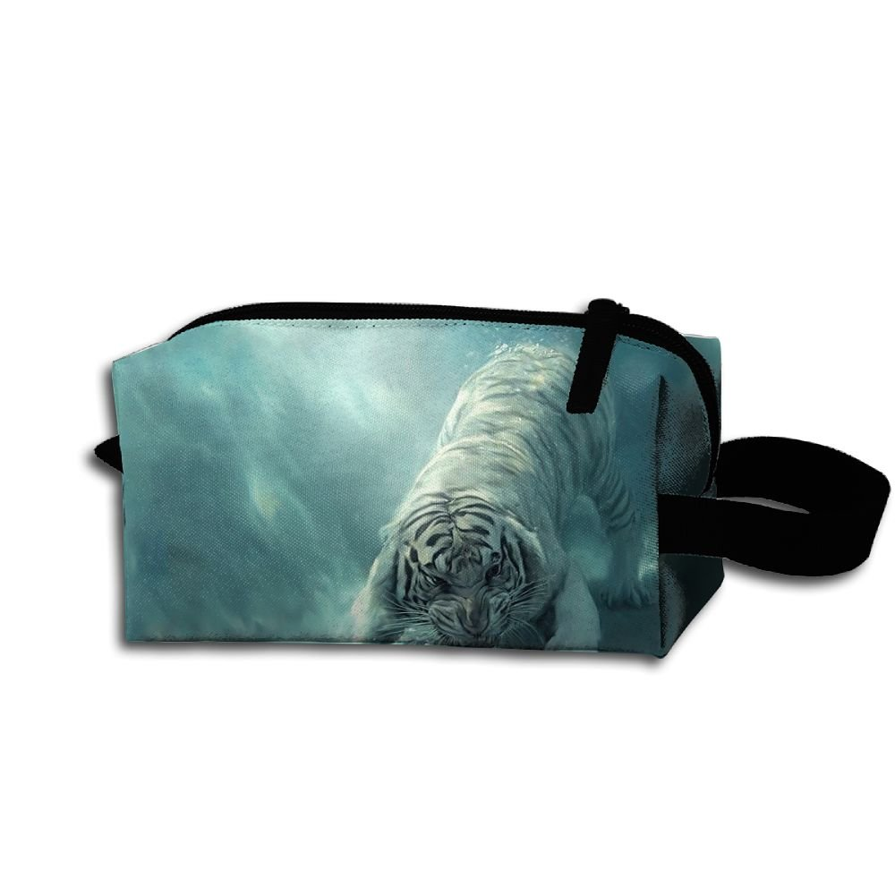 Makeup Cosmetic Bag Animals Tigers Zip Travel Portable Storage Pouch For Men Women