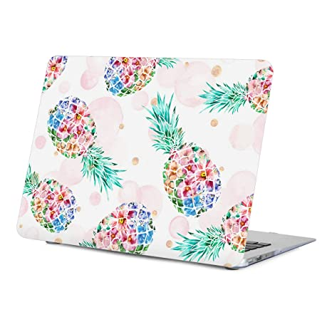 half off df4a0 a955f MacBook Air Case 13 inch, Pineapple Design Rubberized Soft-Touch Protective  Hard Shell Case with Keyboard Cover for MacBook Air 13-inch (Model: ...