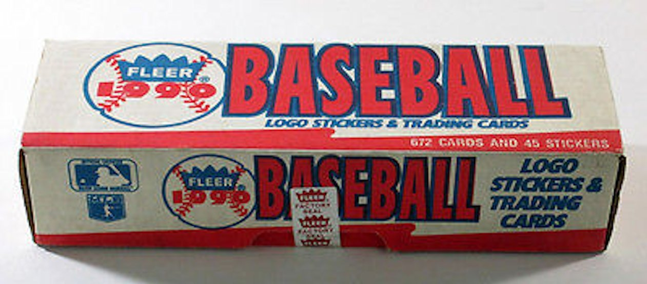 1990 Fleer Baseball Cards Complete Factory Set Of 660 Cards 45 Stickers I