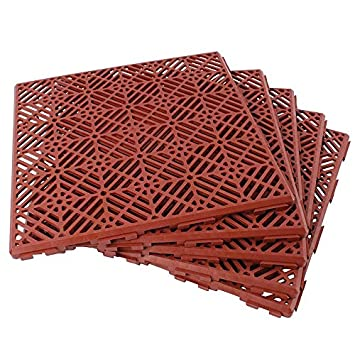 Marvelous Pack Of 5 Plastic Garden Non Slip Path, Walkway Or Patio Tiles