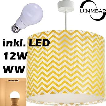 LED Lampe Kinderzimmer Decke Pendelleuchte Streifen 42662 Dimmbar Warmweiß  1000lm Mädchen U0026 Jungen