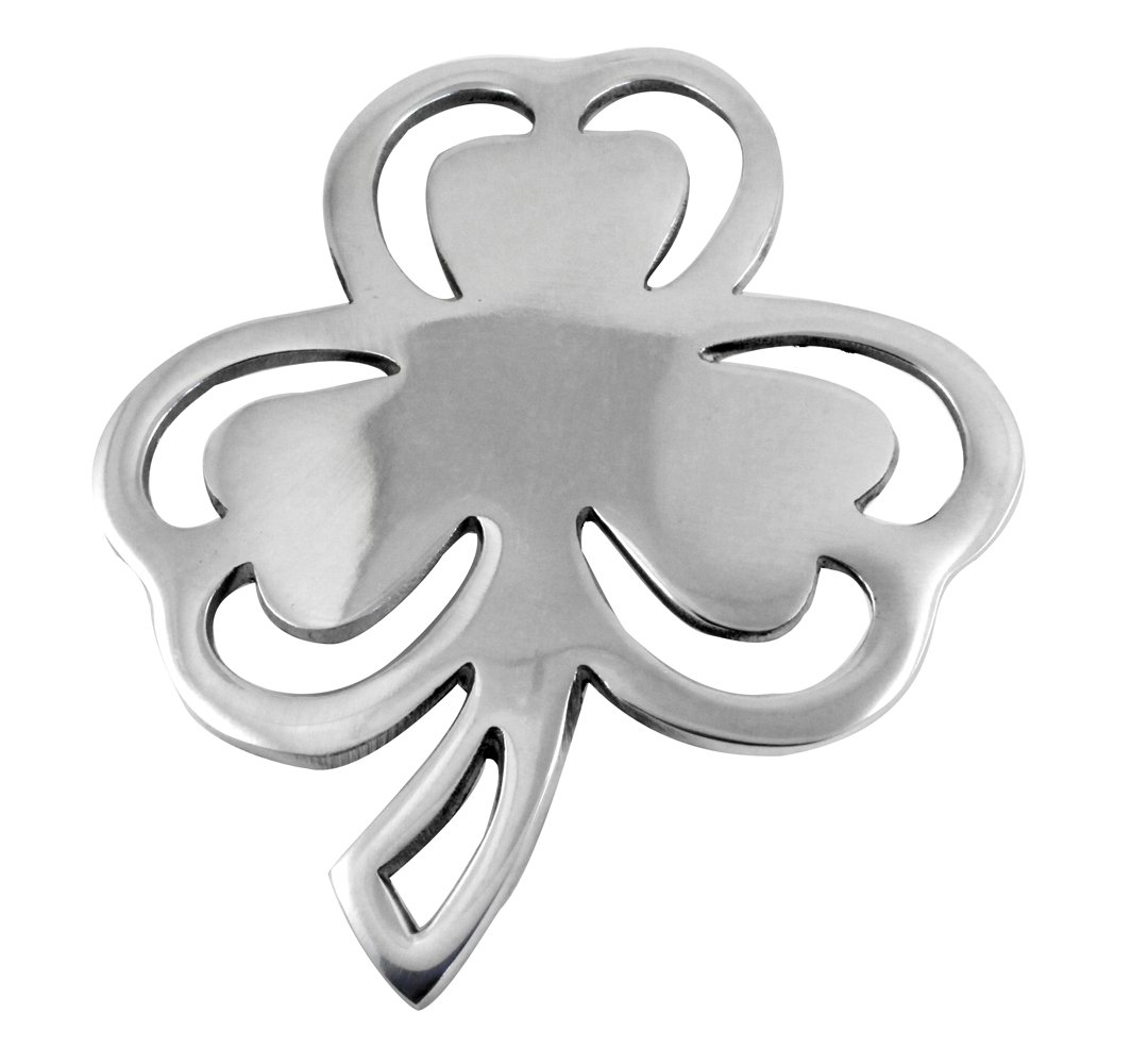 Irish Shamrock Trivet Stainless Steel 9'' x 8''
