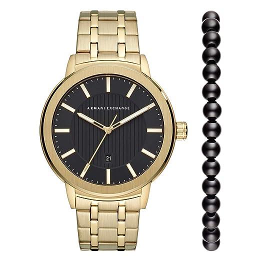 e7d68c7ad957 Armani Exchange Reloj Analógico para Hombre de Cuarzo con Correa en Acero  Inoxidable AX7108  Amazon.es  Relojes