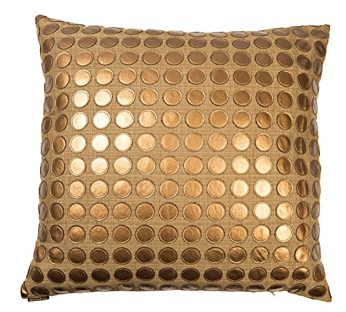 Canaan Company Love Game Decorative Throw Pillow, Geometric, Bronze (Canaan Company Pillow compare prices)