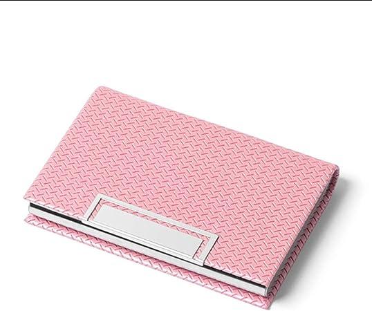 Tarjeteros Portatarjetas De Visita para Hombres Caja De Tarjeta De Gran Capacidad para Mujer Paquete De Tarjeta Bancaria Paquete De Tarjeta De Crédito Portátil Admite 20 Tarjetas: Amazon.es: Hogar