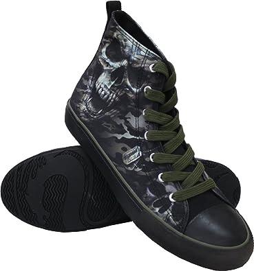 754cc48b9485 Spiral - Mens - CAMO-Skull - Sneakers - Mens High Top Laceup - M42