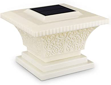 TORCHSTAR Solar Post Lights, Outdoor Post Cap Light for Fence Deck or Patio, Garden, 360 Beam Angle, IP65 Waterproof, Warm White Lamp, Fits 4x4, 5x5, 6x6 Posts