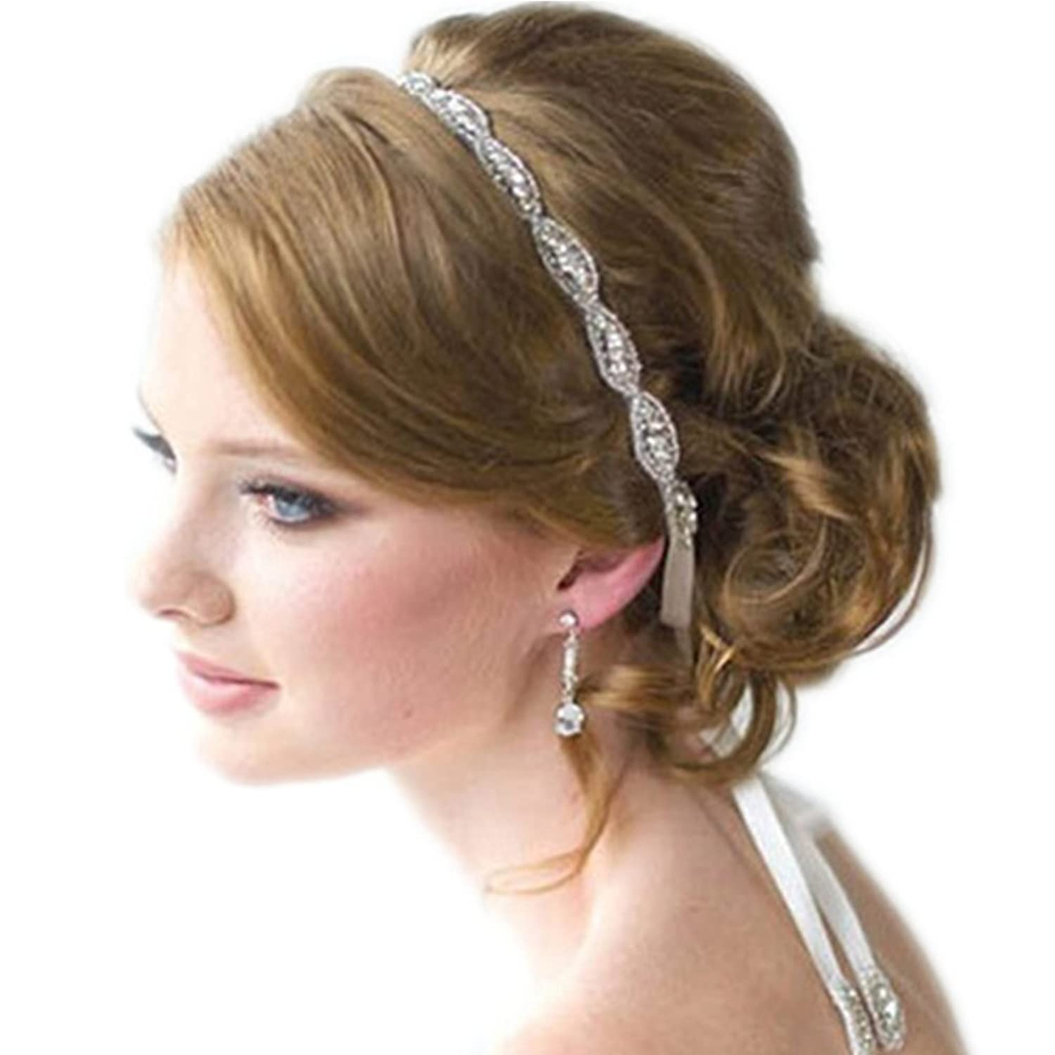 Samgo Vintage Women Accessories Single Band Round Bridal Hair Band
