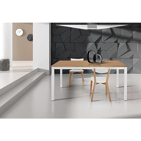 Tavolo Da Pranzo Moderno Di Design Allungabile Cm 90 X 160/220 ...