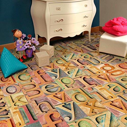 Cheap  SUKEQ Wonderful Self Adhesive Stick Wall Tile, Floor Wall Art Decal Sticker..