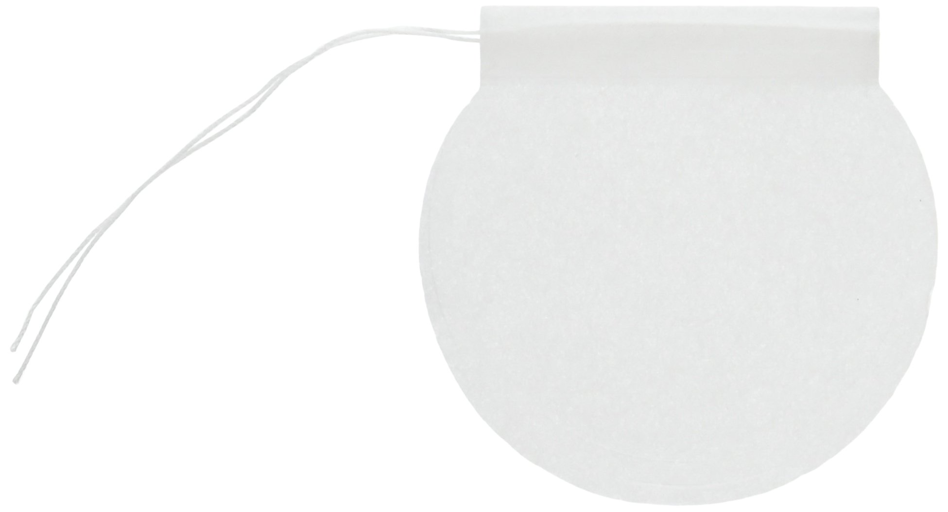 Special Tea 150 Count Round Empty Tea Bags with Draw String Closure, 2.25'' x 2.5'', White