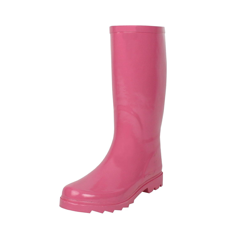 West Blvd Women's Mid Calf Waterproof Rainboots B00LCBSNR8 9 B(M) US|Pink Rubber