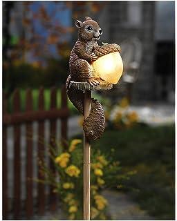 Solar Sammy Squirrel Stake Lamp Lighting Outdoor Lawn Garden Decor By CT  Discount Store