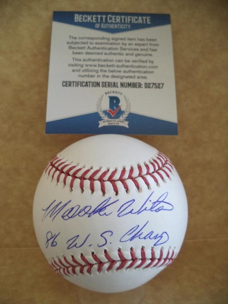Mookie Wilson New York Mets 86 W.S. Champs Signed Autographed Auto Baseball Beckett D27527