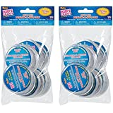 "One Package of 12 pieces Design-A-Button 2-1/2""-Clear Plastic (2 pack)"
