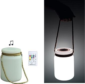 LED – Linterna de jardín fiesta Luz con Altavoz Bluetooth Cambio de color etc.: Amazon.es: Iluminación