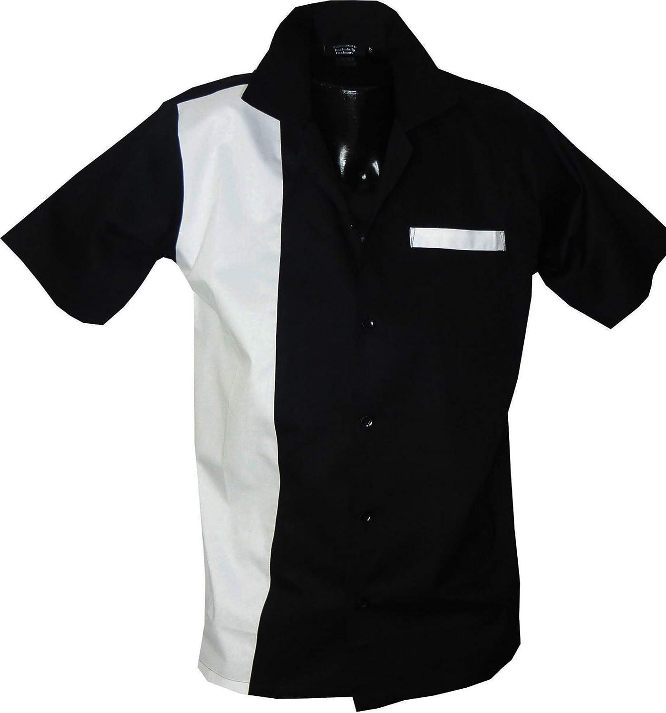 Rockabilly Fashions - Camisa Informal para Hombre, diseño Retro de los años 50 y 60: Amazon.es: Ropa y accesorios