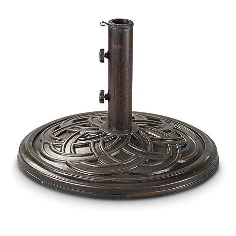 Amazon Com Castlecreek Bronze Market Patio Umbrella Base Patio